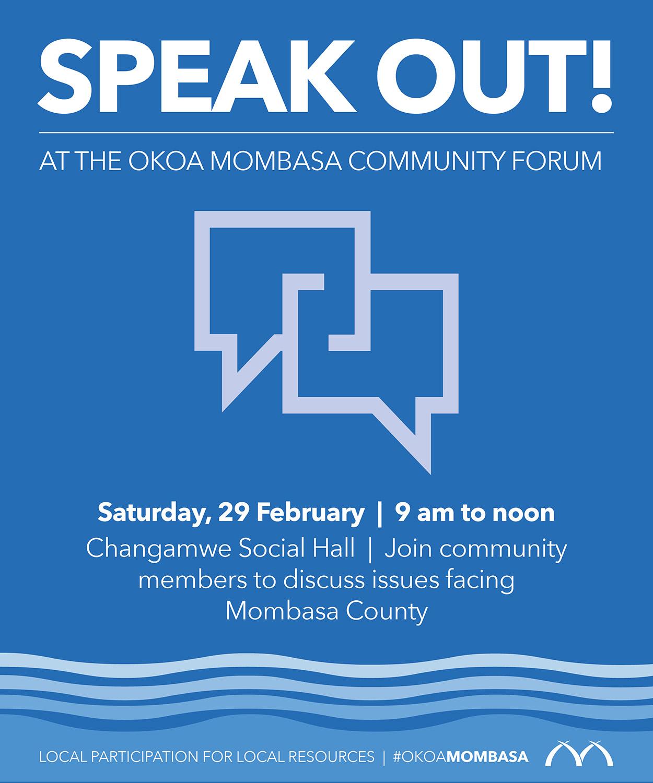Speak Out at the Okoa Mombasa Community Forum